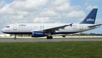 N662JB @ FLL - Jetblue A320 prepares to depart FLL