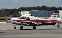 N740RA @ DED - This Piper belongs to the Flying Academy based at Deland , Florida