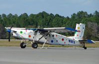 N19TX @ DED - Pilatus PC-6 in an unusual colour scheme at Deland , Florida