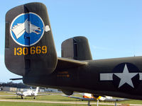 N3476G @ EVB - Tail art on North American B-25N at New Smyrna Beach