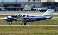N47848 @ PBI - Piper PA-34-200T taxies out at West Palm Beach