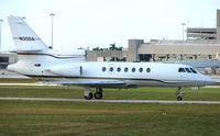 N300A @ PBI - Falcon 50 taxies in at West Palm Beach