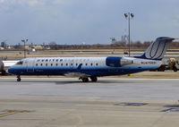N75991 @ PHL - United Express CRJ taxies in at Philadelphia