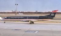 N370SK @ PHL - US Airways EMB145 taxies in at Philadelphia