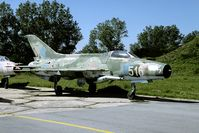 516 @ LBPG - This MiG-21 is one of the oldest in the Bulgarian inventory. In 2005 it was stored in a dispersal area and will probably be scrapped. - by Joop de Groot