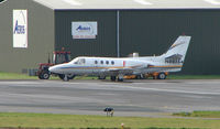 N80364 @ EGBJ - A visitor to Gloucestershire Airport on the day of the horse racing Gold Cup  at the nearby Cheltenham Racecourse