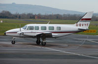 G-BVYF @ EGBJ - A visitor to Gloucestershire Airport on the day of the horse racing Gold Cup  at the nearby Cheltenham Racecourse