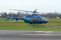 N407WD @ EGBJ - A visitor to Gloucestershire Airport on the day of the horse racing Gold Cup  at the nearby Cheltenham Racecourse