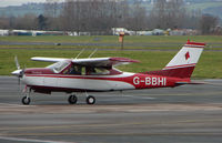 G-BBHI @ EGBJ - A visitor to Gloucestershire Airport on the day of the horse racing Gold Cup  at the nearby Cheltenham Racecourse