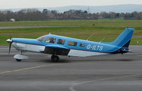 G-ILTS @ EGBJ - A visitor to Gloucestershire Airport on the day of the horse racing Gold Cup  at the nearby Cheltenham Racecourse