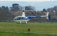 G-LUKY @ EGBJ - A visitor to Gloucestershire Airport on the day of the horse racing Gold Cup  at the nearby Cheltenham Racecourse