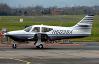N6039X @ EGBJ - A visitor to Gloucestershire Airport on the day of the horse racing Gold Cup  at the nearby Cheltenham Racecourse