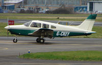 G-CKEY @ EGBJ - A visitor to Gloucestershire Airport on the day of the horse racing Gold Cup  at the nearby Cheltenham Racecourse