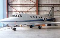 XA-RFB @ HOU - Sabre 60 hangared at Houston Hobby in 1992