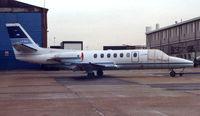 LV-WIJ @ EGGW - A rare Argentinian bizjet on UK soil , visits Luton in 1998 - by Terry Fletcher