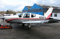 N34FA @ EGTR - Part of the busy GA scene at Elstree Airfield in the northern suburbs of London