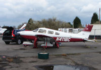 N411BC @ EGTR - Part of the busy GA scene at Elstree Airfield in the northern suburbs of London