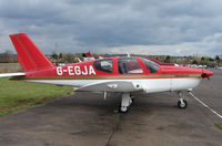 G-EGJA @ EGTR - Part of the busy GA scene at Elstree Airfield in the northern suburbs of London