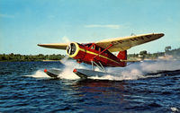 CF-HVP - Post card - Float take-off - by Copyright by H. R. Oakman