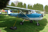 G-ATMY @ EGBM - This 1965 Cessna 150F tied down at Tatenhill in March 2008