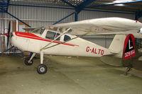 G-ALTO @ EGBM - 1948 built Cessna 140 still going strong at Derby Eggington