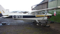 G-BFKB @ EGBD - Cessna F172N at Derby Eggington  - a visitor from its base at Sleap airfield