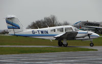 G-TWIN @ EGTC - Part of the General Aviation activity at Cranfield