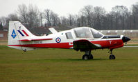 G-CBFP @ EGTC - This Bulldog still wears its RAF marks of XX636