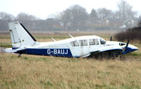 G-BAUJ @ EGTC - Abandoned Aztec at Cranfield