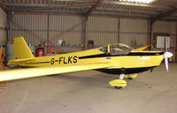 G-FLKS - Hangared at Dunstable Downs