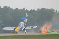 N151RJ @ KOSH - Accident immediately after impact with Precious Metal II - by Mark Silvestri
