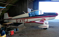 G-AYEJ @ EGTN - One aircraft at the friendly Enstone Airfield in Oxfordshire