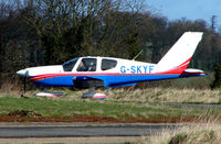 G-SKYF - One aircraft at the friendly Enstone Airfield in Oxfordshire