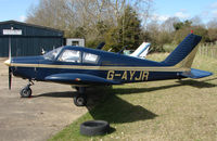 G-AYJR - Based aircraft at the quaintly named Hinton-in-the-Hedges airfield
