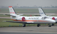 VP-CED @ EGCC - Citation II at Manchester in April 2008 - by Terry Fletcher