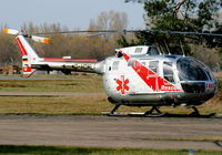 D-HDML @ EDSB - Aerial, MBB BO 105 CBS,nice surprise on this sunday,with new colors! - by G.Rühl