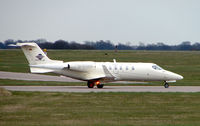 D-CGGB @ EGGW - Cirrus Learjet 40 departs Luton - by Terry Fletcher