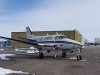 N110BA @ KAXN - Bemidji Aviation Beech 65-B80 Queen Air - by Kreg Anderson