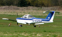 G-EDNA @ EGCB - Piper Tomahawk parked remotely  at a waterlogged  Barton