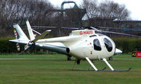 G-HAUS @ EGCB - One of 8 Helicopter vistors to Barton Airfield for the Manchester United v Arsenal Soccer match