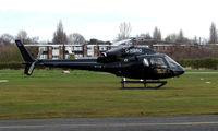 G-HBRO @ EGCB - One of 8 Helicopter vistors to Barton Airfield for the Manchester United v Arsenal Soccer match