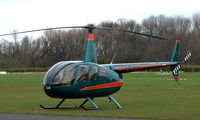 G-DIGG @ EGCB - One of 8 Helicopter vistors to Barton Airfield for the Manchester United v Arsenal Soccer match