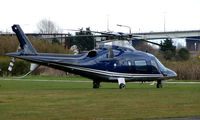 EI-TWO @ EGCB - One of 8 Helicopter vistors to Barton Airfield for the Manchester United v Arsenal Soccer match