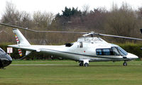 G-GRND @ EGCB - One of 8 Helicopter vistors to Barton Airfield for the Manchester United v Arsenal Soccer match