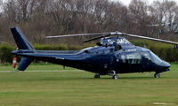 G-JMON @ EGCB - One of 8 Helicopter vistors to Barton Airfield for the Manchester United v Arsenal Soccer match