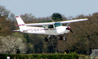 G-BOKY @ EGHH - Cessna 152 doing circuits at Bournemouth