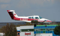 G-BODX @ EGHH - Beech 76 arriving at Bournemouth - by Terry Fletcher