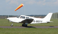 G-BSYY @ EGHH - Piper Pa-28-161 taxies out for an afternoon sortie from Bournemouth