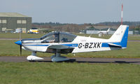 G-BZXK @ EGHH - Robin 200 taxying out at Bournemouth