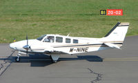 M-NINE @ EGHI - Beech 58G Baron taxies in at Southampton in April 2008